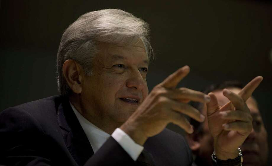 The presidential candidate for the leftist coalition Progressive Movement of Mexico, Andres Manuel Lopez Obrador, gestures while speaking during a press conference in Mexico City, on July 9, 2012. Lopez Obrador, who came in second in Mexico's presidential election on July 1, confirmed that his party will challenge the results in the Electoral Court, refusing to accept the victory of Enrique Pe�a Nieto of the Institutional Revolutionary Party (PRI) who he claims is guilty of vote-buying, enjoyed media coverage biased in his favor and broke campaign spending limits.    AFP PHOTO/Yuri CORTEZ        (Photo credit should read YURI CORTEZ/AFP/GettyImages) Photo: Getty Images
