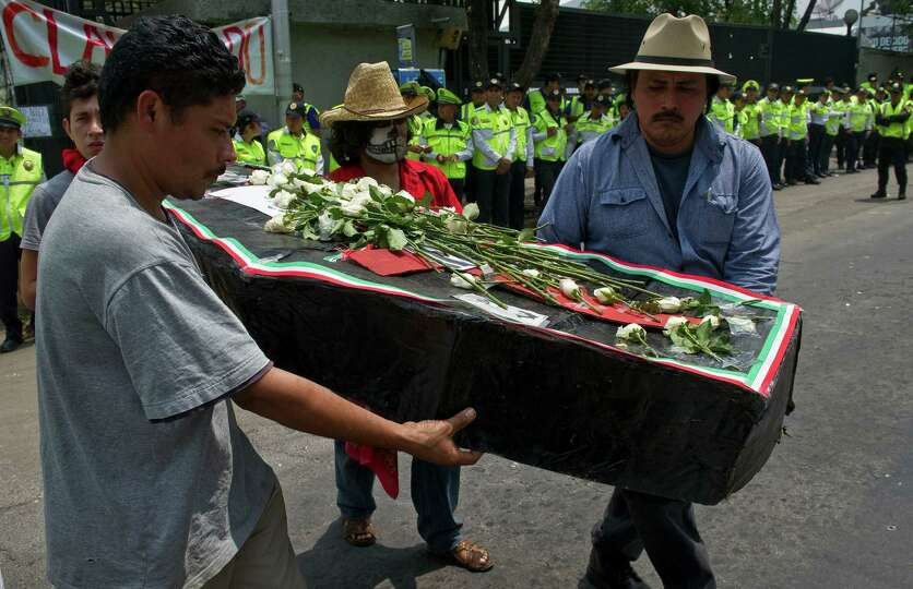 People protest in front of the Federal Electoral Institute (IFE) in Mexico City, on July 6, 2012 aft