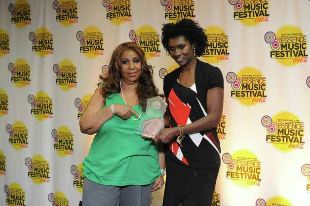 Aretha Franklin poses with her Power Award with Essence editor-in-chief Constance White for photos at the Essence Music Festival in New Orleans on Sunday, July 8, 2012.  (Photo by Cheryl Gerber/Invision/AP) Photo: Cheryl Gerber, INVL / 2012 Invision