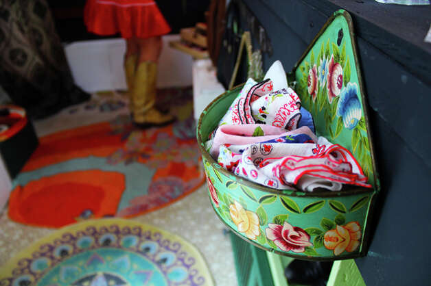 The beauty is in the details, from the Kippy's colorful rugs to the brightly patterned handkerchiefs hanging on the counter. Photo: Rachel Reed
