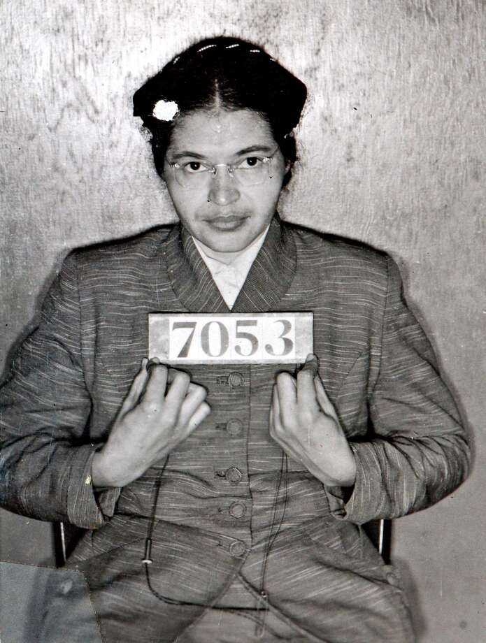 """Rosa Parks, famous for not giving up her seat in the """"whites only"""" section of a bus suffered from Alzheimer's. Photo: AP / MONTGOMERY SHERIFFS DEPARTMENT"""