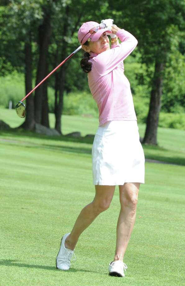 Deborah Jamgochian won the Townwide Flight championship at the Women's Town Golf Tournament at Griffith E. Harris Golf Course Monday, July 9, 2012. Photo: Helen Neafsey / Greenwich Time