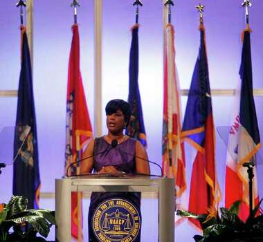 NAACP Chairwoman Roslyn M. Brock speaks Sunday during the 103rd NAACP Convention at the George R. Brown Convention Center. Photo: James Nielsen, . / © Houston Chronicle 2012