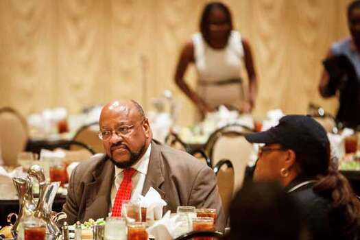 U.S. Rep. Sheila Jackson Lee's husband, Elwyn, attends the Clarence Mitchell Jr. Memorial Lecture Luncheon. Photo: Michael Paulsen, . / © 2012 Houston Chronicle