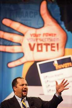 """""""We must overwhelm the rising tide of voting suppression with the high tide of registration and mobilization and motivation and protection,"""" Jealous said. Photo: Michael Paulsen, . / © 2012 Houston Chronicle"""