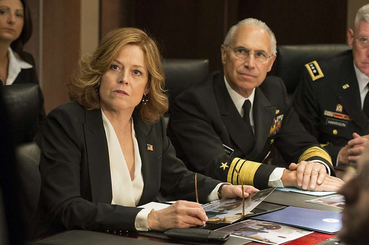 The show, starring Sigourney Weaver (left), is sometimes political satire and sometimes third-rate soap opera.