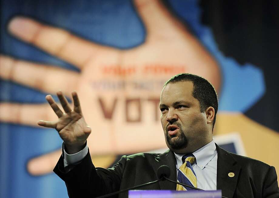 NAACP President and CEO Benjamin Todd Jealous lays out his goals for the more than century-old civil rights organization at its annual convention Monday, July 9, 2012, in Houston. Photo: Pat Sullivan, Associated Press