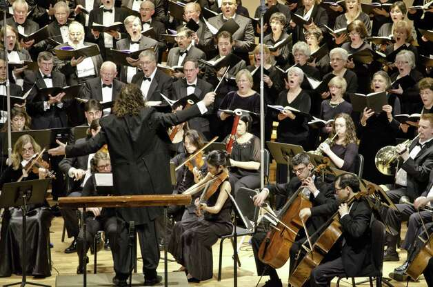 David Rosenmeyer, on podium, has been chosen music director/conductor of the Fairfield County Chorale and will lead the group's 50th anniversary season. Photo: Contributed Photo