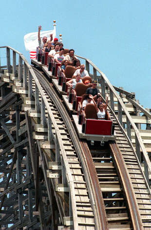 The Rattler at Six Flags Fiesta Texas in 1998. EXPRESS-NEWS FILE PHOTO Photo: Express-News