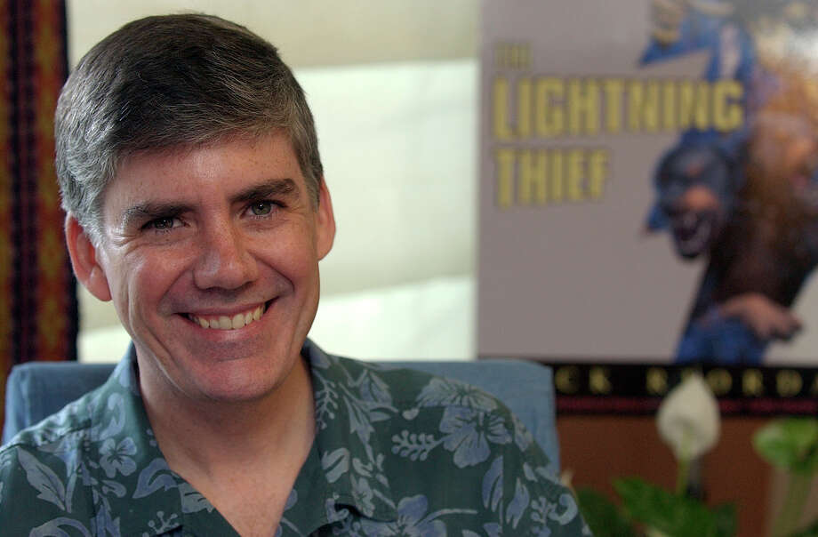 "Rick Riordan: Former San Antonio middle-school teacher turned author is behind the young adult series Percy Jackson and the Olympians. The first book of the series, ""The Lightning Thief,"" was released as a movie in 2010. Photo: Helen L. Montoya, San Antonio Express-News / SAN ANTONIO EXPRESS-NEWS"