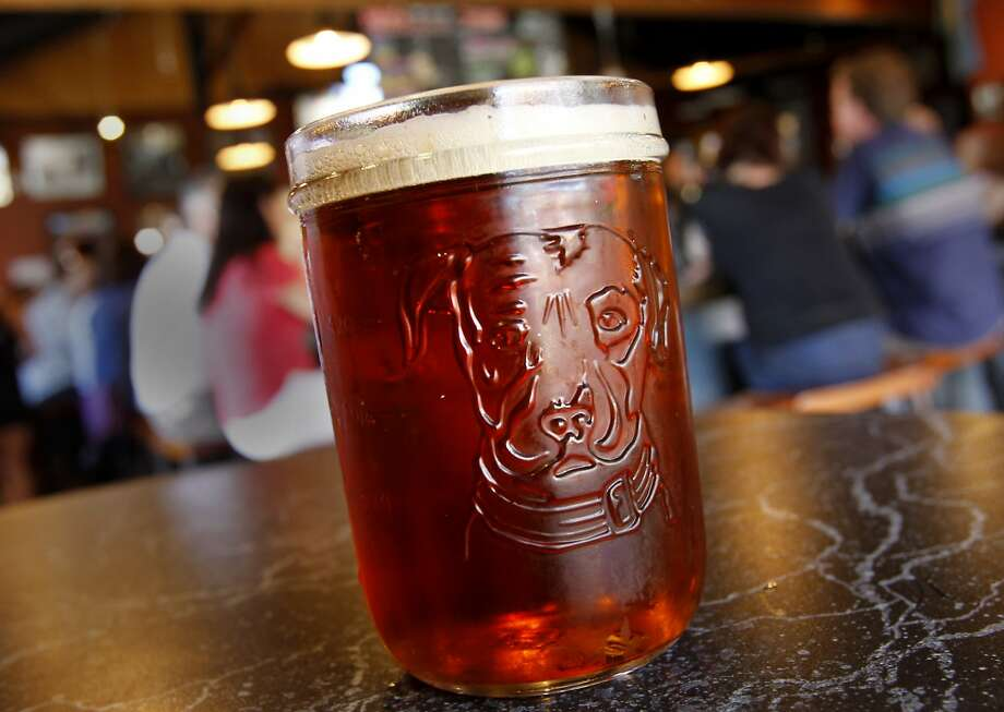 Undercover Shutdown, one of the exotic brews offered at the Taproom. The Lagunitas Taproom and beer sanctuary is a delicious secret on the east side of Petaluma featuring their superb beer, live music, and entertaining food. Photo: Brant Ward, The Chronicle
