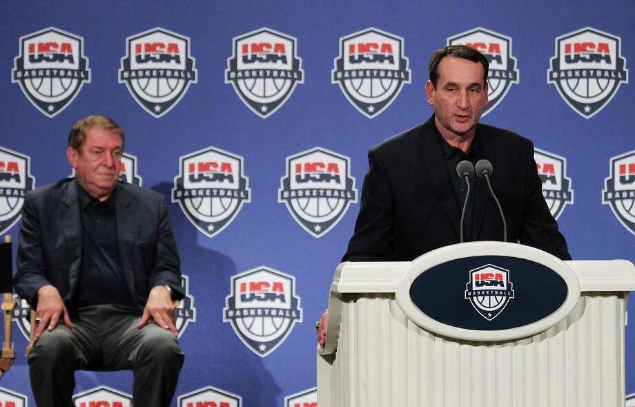 U.S. men's basketball coach Mike Krzyzewski is expected to stress fast-break points. Photo: AP