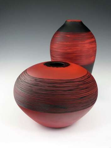 Glass objects by Nick Leonoff will be featured at the Guilford Craft Expo July 19-22. Photo: Contributed Photo