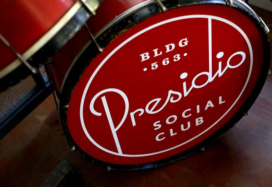 A drum set greets patrons of the Presidio Social Club in San Francisco, Calif., Monday, July 9, 2012.  Since the Presidio Social Club is located on federal land, they are exempt from California's new law banning foie gras. They have announced that they will begin serving the delicacy beginning Saturday, July 14. Photo: Sarah Rice, Special To The Chronicle