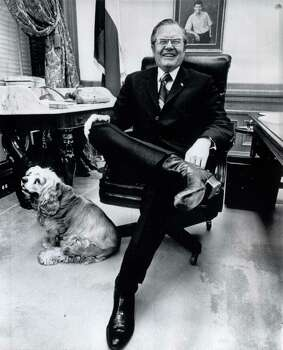 Dolph Briscoe: Uvalde native was 41st Governor of Texas, guiding the state during its oil and gas boom years. He also signed into law the 1973 Texas Open Records Act, which guarantees the public's right to information about state and local government, and sponsored legislation that gave Texas its statewide paved farm-to-market road system. Photo: Associated Press / AP WIREPHOTO
