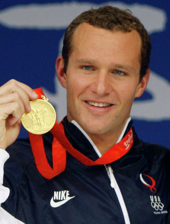 Brendan Hansen: Swimmer and two-time gold medalist with Team USA's 4x100 medley relay team at both the 2004 Olympics in Athens and the 2008 Olympics in Beijing. Also took a bronze medal for the 200-meter breaststroke and a silver medal for the 100-meter breaststroke at the Athens games.    Took a bronze medal in the 100-meter breaststroke and a gold medal as a member of the 4x100-meter medley relay in London this summer. Photo: Mark Baker, Associated Press
