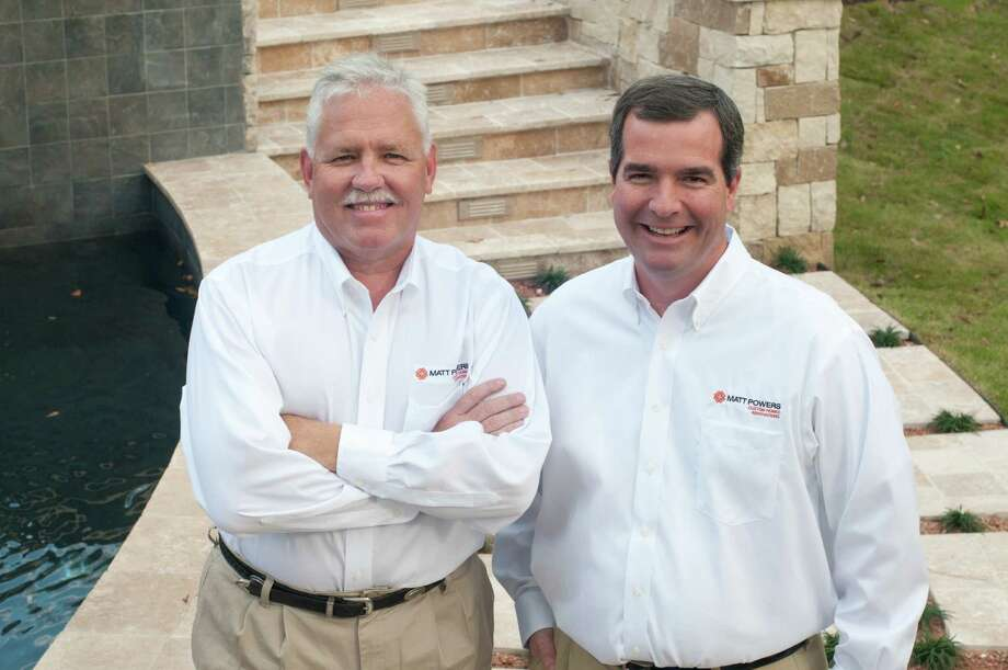 From left are Dewey Hennessee and Matt Powers of Matt Powers Custom Homes & Renovations.