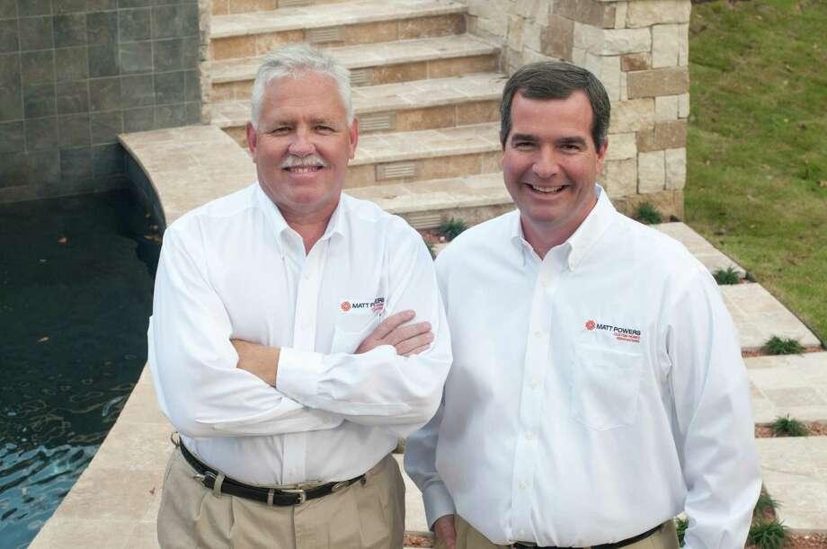 From left are Dewey Hennessee and Matt Powers of Matt Powers Custom Homes & Renovations.