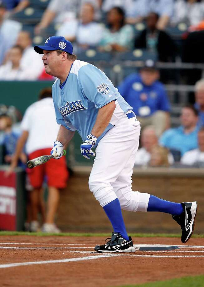 KANSAS CITY, MO - JULY 08:  Actor Eric Stonestreet in action during the Taco Bell All-Star Legends & Celebrity Softball Game at Kauffman Stadium on July 8, 2012 in Kansas City, Missouri. Photo: Jamie Squire, Getty Images / 2012 Getty Images