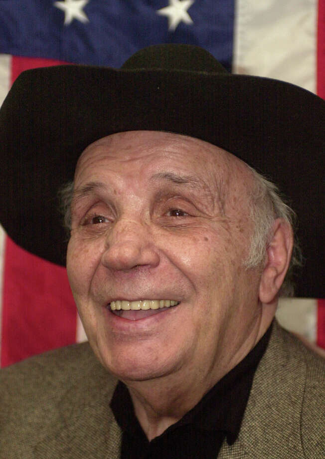 "Former world middleweight champion Jake LaMotta, 81, the one-time ""Raging Bull,"" talks with reporters and boxing officials Tuesday, March 11, 2003, in New York after a news conference held to announce that the Fighters Initiative for Support and Training, has become affilated with the AFL-CIO union. LaMotta was among several retired ring figures who came out to support F.I.S.T., an organization that helps ex-boxers find their way in the ""real world."" Photo: ED BAILEY, AP / AP"
