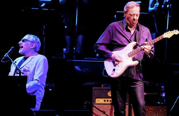 Donald Fagen (left) and Boz Scaggs of The Dukes of September Rhythm Revue perform at the Gibson Amphitheatre on June 28, 2012 in Universal City, California. Photo: Kevin Winter, Getty Images / 2012 Getty Images