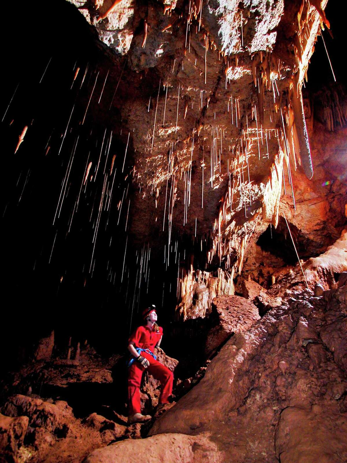 1960: The caverns were discovered by four cavers from St. Mary's University in San Antonio while exploring the area. Today, this worldclass attraction hosts more than 250,000 visitors annually.