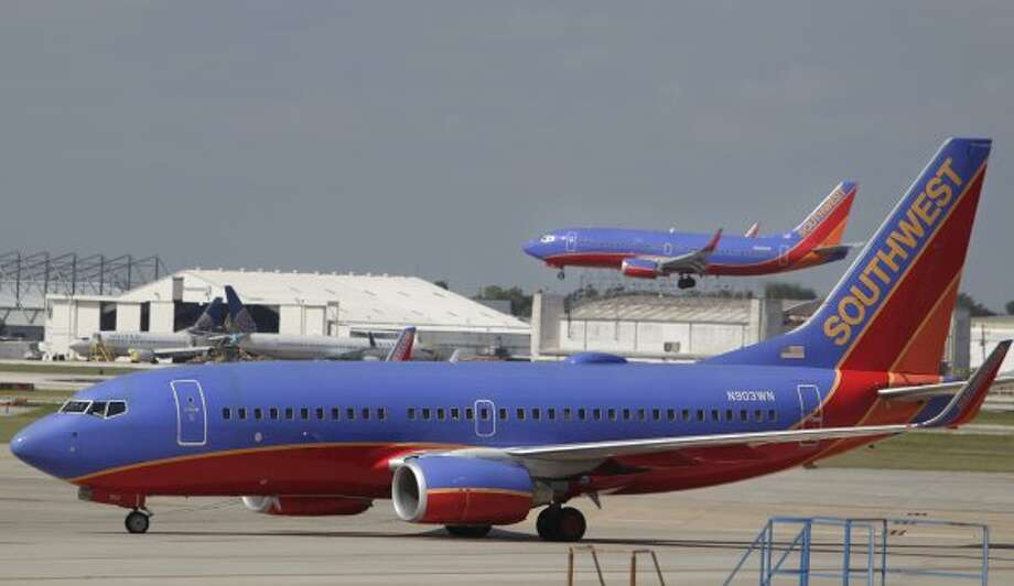No. 20: Southwest Airlines, Dallas: Fortune said Southwest Airlines, which is ranked 164 overall, made approximately $17.1 billion in revenue in 2012.  (Mayra Beltran / Houston Chronicle)