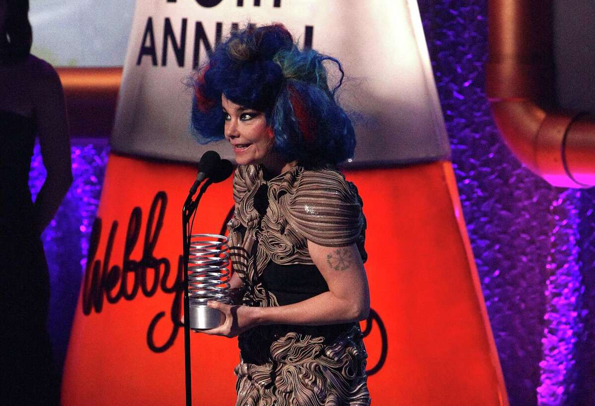 Bjork, who's 46, attends the Webby Awards in May of this year in New York City.