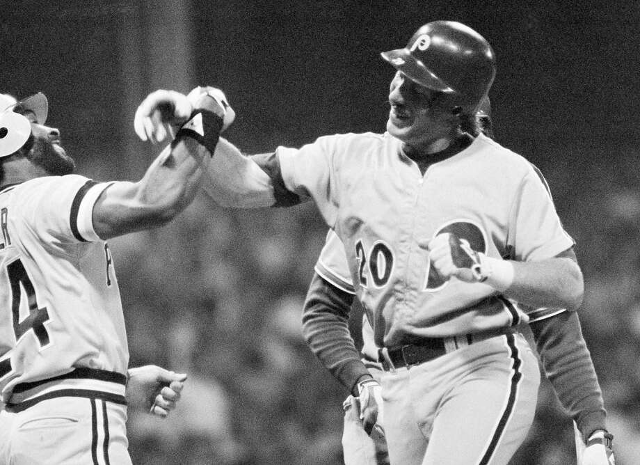Mike Schmidt (right) remembers well the thrill of hitting a home run in the 1981 All-Star Game. Photo: AP
