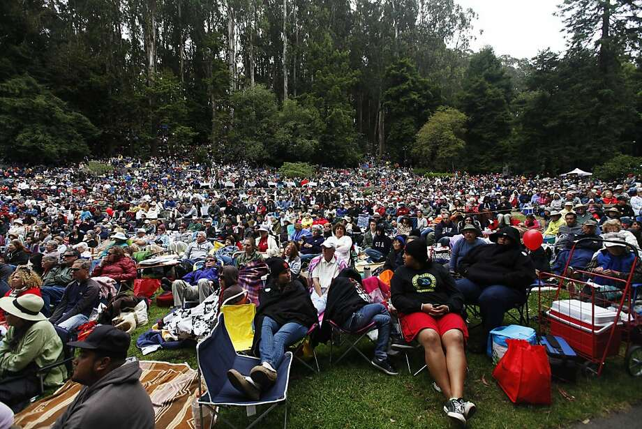 June 22, Stern Grove Festival:Free music in the outdoors. So what if there's a little fog and summer wind chill? This fest is an S.F. classic. The 77th season kicks off with an afternoon concert from Smokey Robinson and Patti Austin. Other acts to come this summer: Rufus Wainwright, Andrew Bird and the Zombies. Website. Photo: Sonja Och, The Chronicle