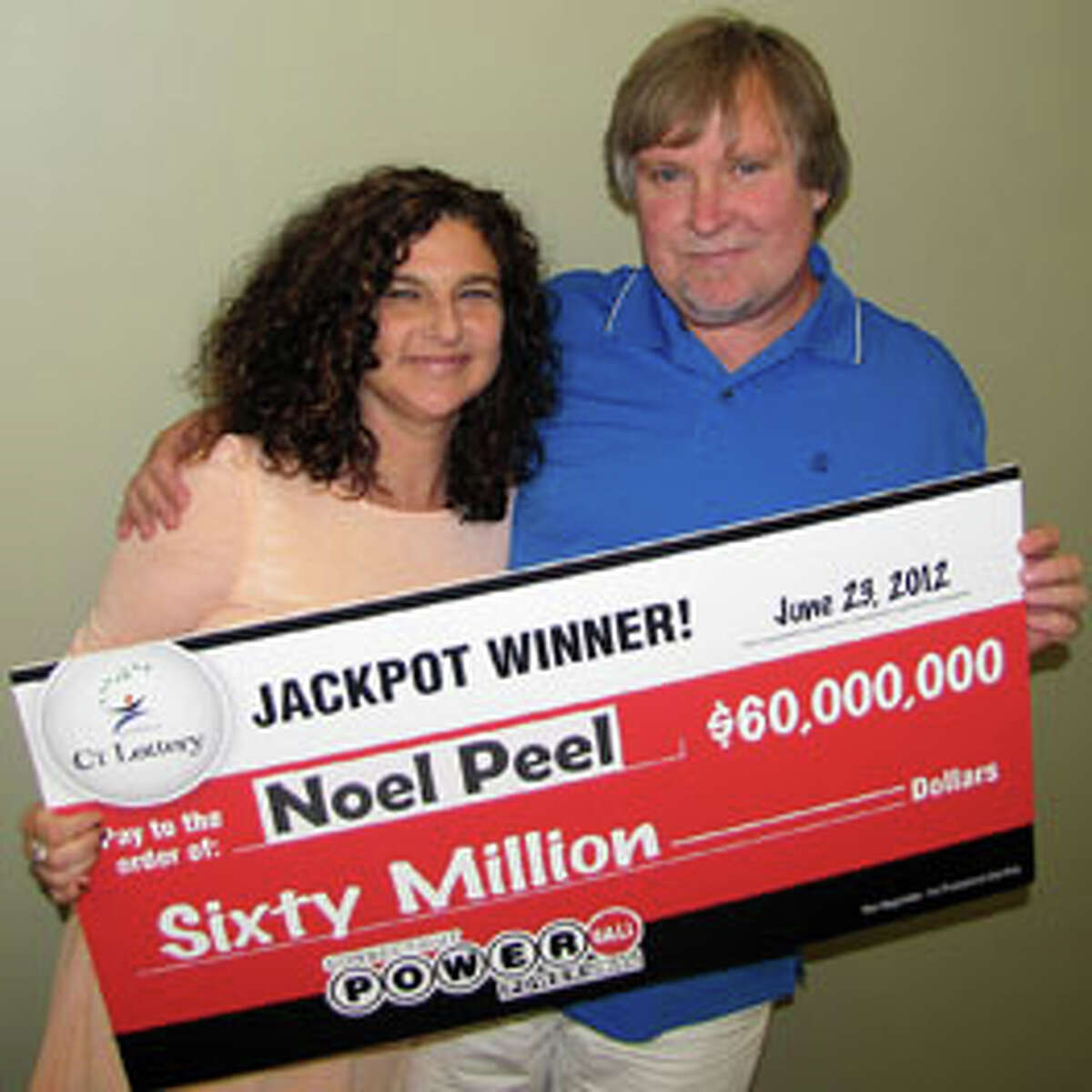Noel and Fredda Peel of Seymour had the winning ticket from the June 23rd Powerball drawing, and won the $60 million jackpot.