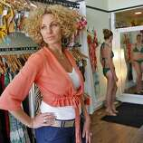 "Zoe Bikini: Santa Barbara native Zoe Magee stitches colorful bikinis of her own  design on a machine in her Mission District shop. Tops and bottoms from S  to XL can be purchased separately; swimsuits run about $140 each. Magee  will close the store for private ""bikini parties"" for women who want to  combine shopping and sipping with girlfriends.