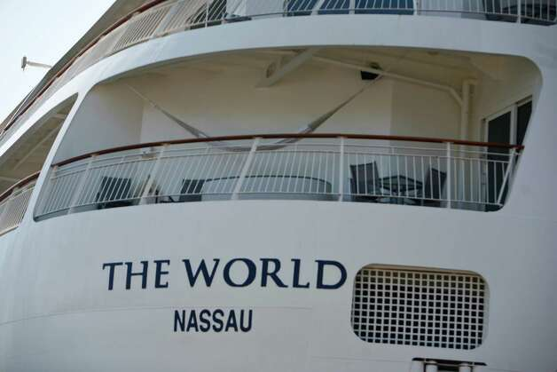 A residence home on The World, the largest privately owned residential yacht on earth, is shown at Pier 66 in Seattle on Tuesday, July 10, 2012. There are 165 privately owned residences aboard The World ship. Photo: Sofia Jaramillo / SEATTLEPI.COM