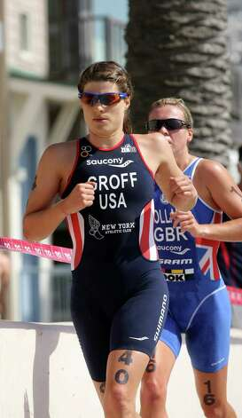 SAN DIEGO, CA - MAY 11:  Sarah Groff #40 of the USA competes during the 2012 ITU World Triathlon San Diego Elite Women Race on May 11, 2012 in San Diego, California. (Photo by Donald Miralle/Getty Images) Photo: Donald Miralle / 2012 Getty Images