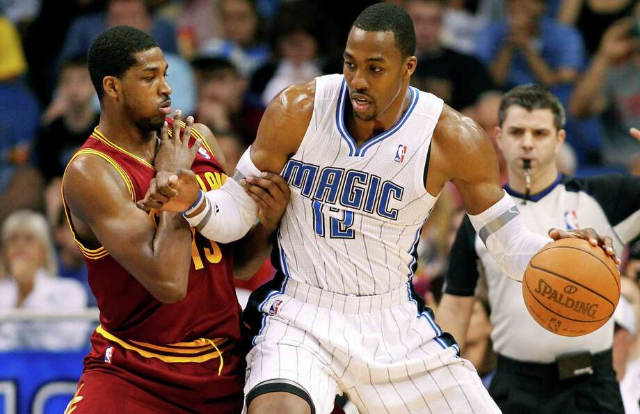 A multi-team deal may eventually land Orlando's Dwight Howard in Brooklyn, but Tristan Thompson and the Cavaliers are out of the mix. Photo: AP