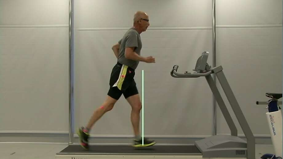 Bruce Coury on a treadmill during his time at RunSafe clinic. Photo: Courtesy Of RunSafe Clinic, See Above