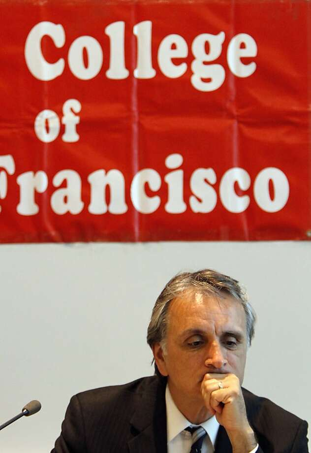 City College of San Francisco Board of Trustees president John Rizzo listens during their meeting in San Francisco, Calif., Tuesday, July 10, 2012.  Interim chancellor Pamila Fisher and the Board of Trustees heard from the public and talked about the next steps to keeping the school open after the Accrediting Commission's announcement that the school is so poorly run it needs to prove why it should stay open. Photo: Sarah Rice, Special To The Chronicle
