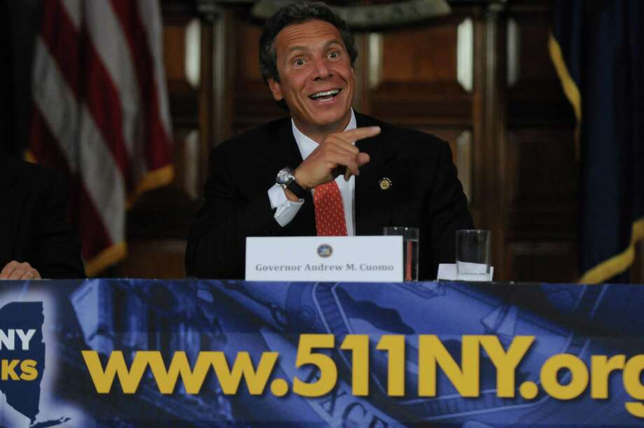NY Governor Andrew M. Cuomo during  a press conference to announce 511NY.org, at the Red Room in the Capitol on Tuesday  July 10, 2012 in Albany, NY.  (Philip Kamrass / Times Union) Photo: Philip Kamrass / 00018402A