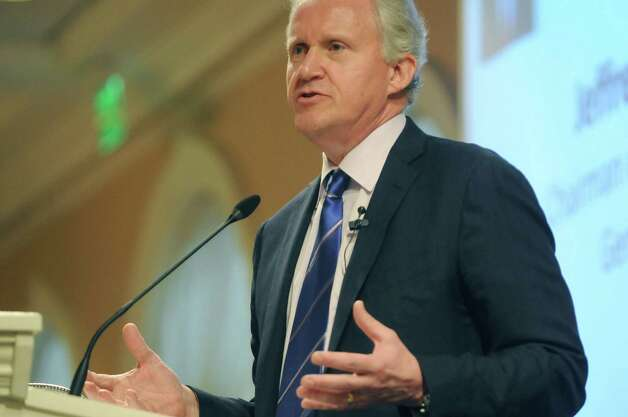 Jeffrey Immelt, GE chairman and CEO, addresses those gathered for a Center for Economic Growth luncheon at Glen Sanders Mansion on Tuesday, July 10, 2012 in Scotia, NY.  Immelt was the keynote speaker at the event.  (Paul Buckowski / Times Union) Photo: Paul Buckowski