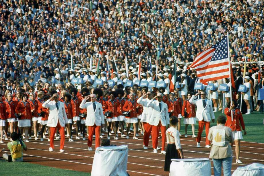 Pictured here is a view of the opening ceremonies of the 1972 Summer Olympics in Munich, Germany, Aug. 26, 1972. Photo: AP / 1972 AP