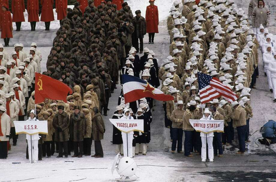 Opening ceremony of XIII Winter Olympics on Feb. 13, 1980 in Lake Placid, N.Y. Photo: Anonymous, AP / 1980 AP
