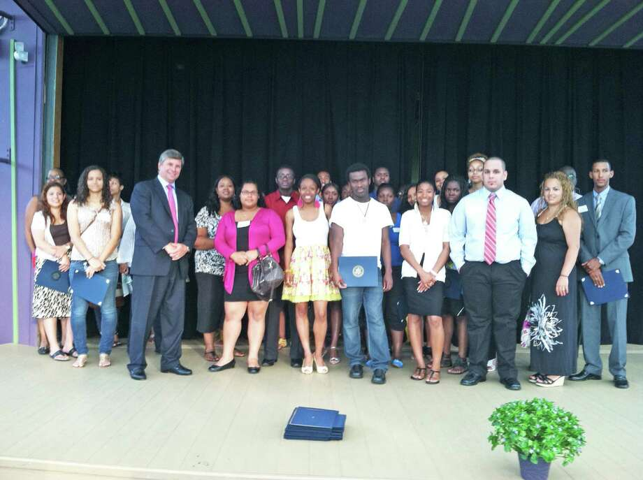 The Norwalk Housing Foundation College Scholarship Awards were bestowed on 37 students on Tuesday night in a ceremony at Stepping Stones Museum for Children. This year marks the program's 14th awards ceremony. This year the awards totaled more than $130,000. Photo: Contributed Photo