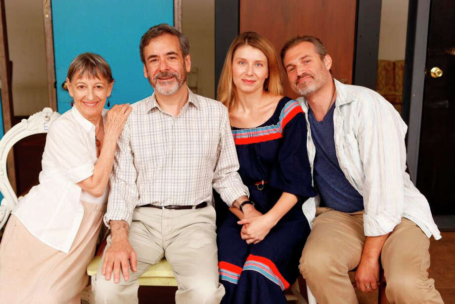 "The cast of ""Tartuffe"" at the Westport Country Playhouse includes (left to right) Patricia Connolly, Mark Nelson, Nadia Bowers and Marc Kudisch. The show is set to run through Aug. 4. Photo: Contributed Photo"