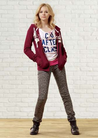 Chloe Moretz will be featured in advertisements for Aeropostale. Photo: Associated Press / Aeropostale / Aeropostale