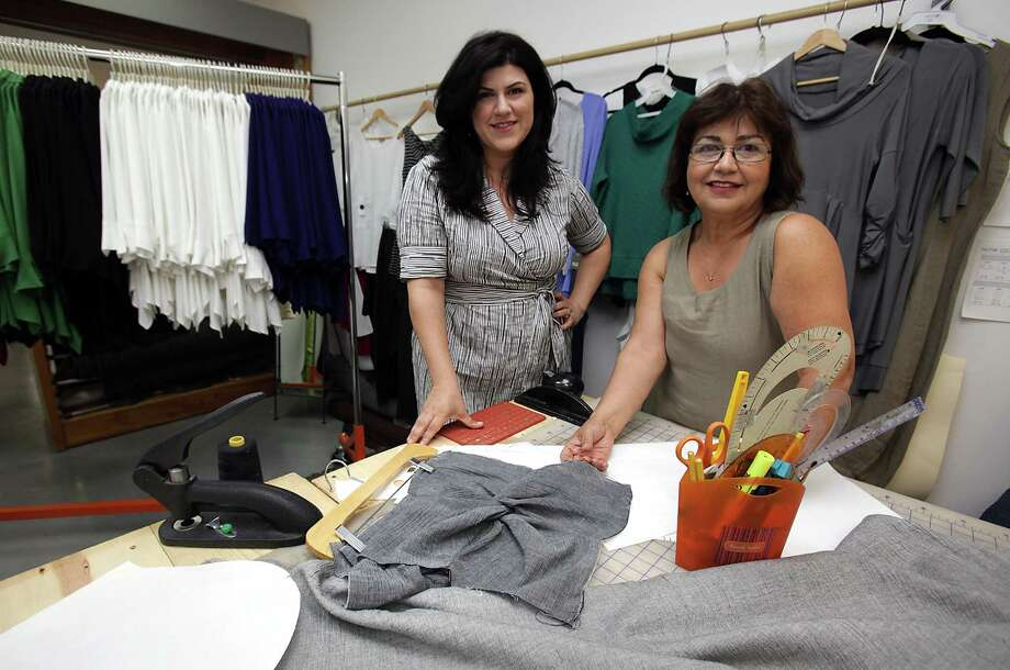 Ayse Derman, left, and her mother, Nilgun Derman, own and operate Niche, a clothing line designed in San Antonio. Photo: Bob Owen, San Antonio Express-News / © 2012 San Antonio Express-News