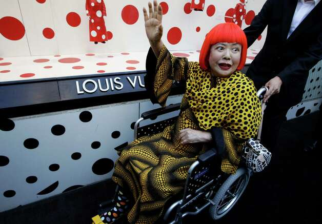 Artist Yayoi Kusama and Louis Vuitton creative desinger Marc Jacobs have collaborated on a collection. Photo: Associated Press / AP