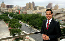 Mayor Julian Castro in downtown San Antonio Thursday June 17, 2010. The...
