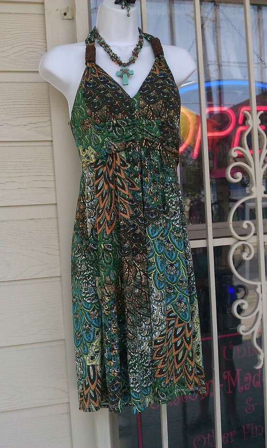 701 S. Presa St.: Unikas carries this silk dress, $25. Photo: Jennifer Rodriguez, For The Express-News