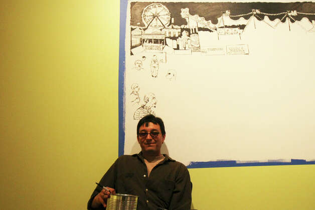 SA LIFE: Albert Alvarez is among the six young San Antonio artists have been given 24/7 access to the Museo Alameda's first floor Smithsonian Gallery for a show opening April 28.  HELEN L. MONTOYA/hmontoya@express-news.net Photo: HELEN L. MONTOYA, SAN ANTONIO EXPRESS-NEWS / hmontoya@express-news.net