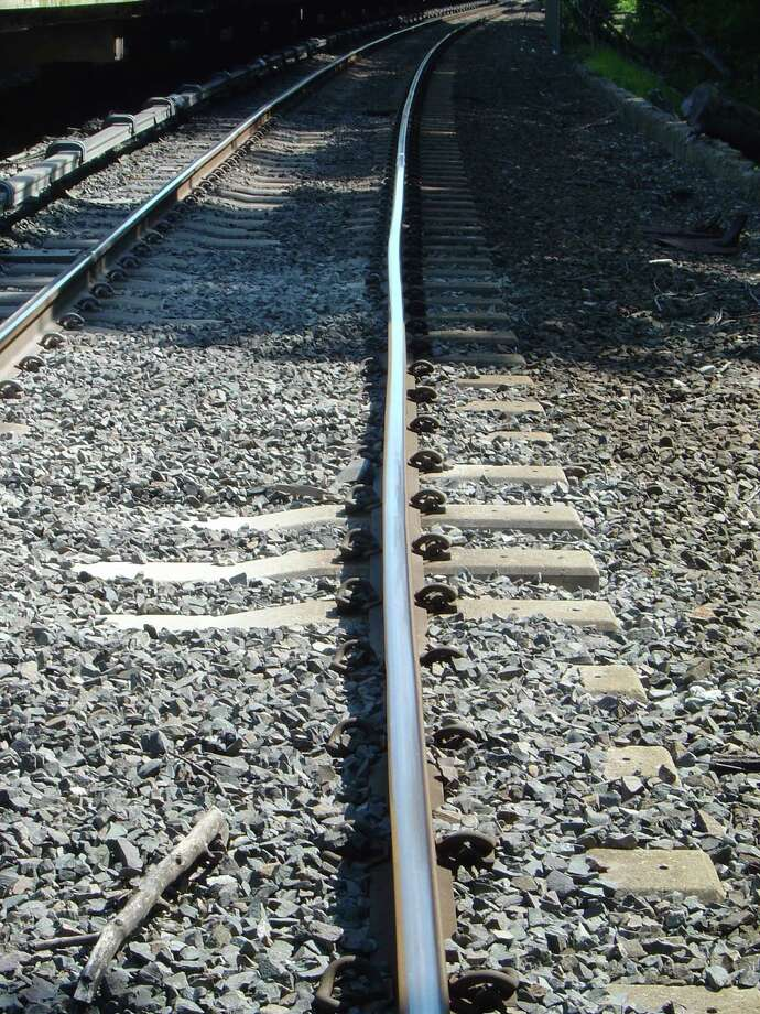 "A Metro-North Railroad photo showing a ""heat kink' in the rails caused by extreme heat. The railroad has implemented speed restrictions on its trains when temperatures exceed 100 degrees. Photo: Contributed Photo"